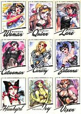 2018 DC Bombshells Series 2 Base Set & 4 Insert Sets 100 Cards