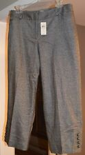 "Womens ""Ann Taylor"" Wool Blend Cropped Lined Dress Pants Size 8 *NWT*"