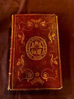 Poetical Works of John Milton 1853  Leather Binding illus