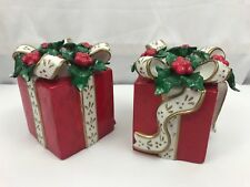 Avon Gift Box Taper Candle Holders Set of 2 with Box Christmas Presents 2001