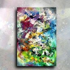 abstrait peinture 'Tout à la fois 'ORIGINAL MÉLANGE Lang Art Déco signée