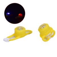 Colorful Bicycle Small Yellow LED Ring lights Bicycle Bell Road Bike Accesso.ex