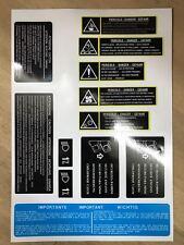 Lancia integrale evo engine room stickers