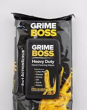 GRIME BOSS 18 WIPES W/PRO-KLEAN EXTRA-LARGE HEAVY DUTY HAND CLEANING
