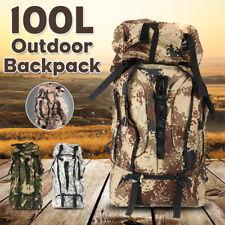 100L Tactical Backpack High Capacity Backpack Camping Baggage Knapsack