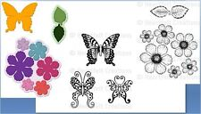 Heartfelt Creations Stamps & Die Combo(3) BOTANICAL WINGS/ROSE Butterfly Medley