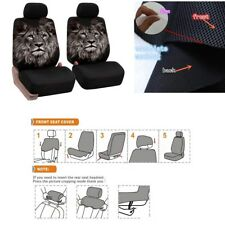 Car Seat Cover Front 2 Bucket Universal Car Auto Seat Covers Animal Pattern