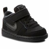 NIKE Court Borough Low (TDV) Black 870029 001 kids Nike Trainers UK 5.5 EUR 22