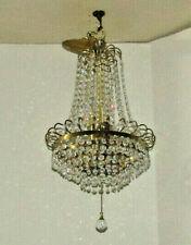 Beautiful Empire Crystal Prism Chandelier, Hollywood Regency, Mid Century