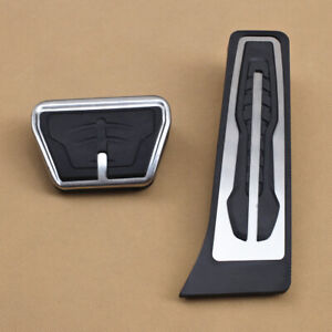 FOR BMW 1-7 Series/X3/X4/X5/X6 AT Steel Brake Gas Foot Accelerator Pedal Covers
