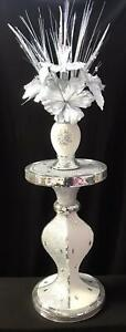 Mosaic Romany Bling Complete Set Table Stand With Vase And Flower Arrangement