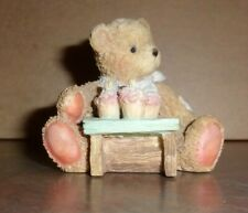 "Cherished Teddies Collectible Figurine - Age 3 - ""Three Cheers for You"" - Vguc"
