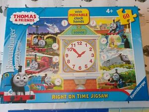 Thomas & Friends - Right on Time Jigsaw Puzzle 60 piece with movable clock hands