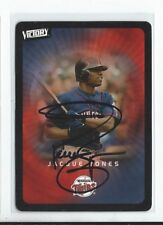 Jacque Jones Signed 2003 Victory  Card #47