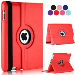 For iPad Case Cover Leather 360 Rotating Stand Shockproof ALL MODELS