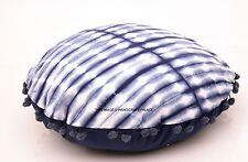 Indian Pillow Case Round Home Decor Throw Cushion Cotton Tie Dye Bed Decor 40 Cm
