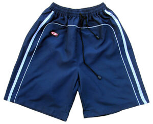 Mens Surf Skate Swim Board Long Blue Sport Stripe Swimming Trunks Shorts