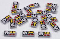 LEGO - 20 x Fliese 1x2 hellgrau bedruckt mit Instrumenten / 3069bpx19 NEUWARE