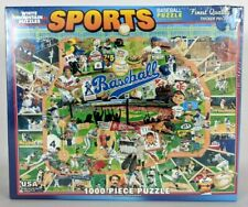 "New! BASEBALL 1000 Piece Puzzle White Mountain Ultimate Trivia 24"" x 30"" #329"