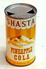 Shasta Pineapple Cola; San Francisco, CA; Solid top steel soda pop can