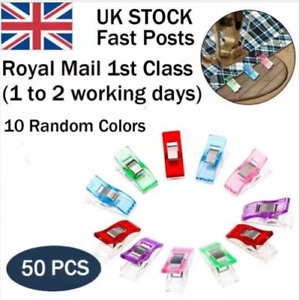50 PCS Wonder Clips For Quilting Fabric Craft Knitting Sewing Crochet Clip Set