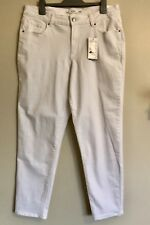 Target Ladies Jeans Size 16 White Skinny Leg Ankle Length Crop Jeans NWT