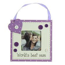 """Worlds Best Mum 3 """"X 3"""" in legno Photo Frame Regalo da Juliana REGALI"""