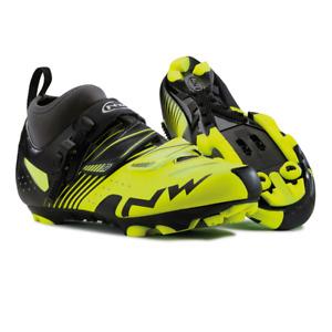 Northwave CX Tech Mens Cycling Shoes Size EU 42 Fluorescent Yellow / Black