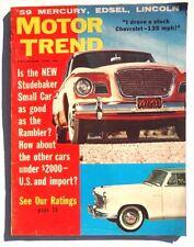 Vtg Hot Rat Rod Car Magazine - December 1958 Motor Trend (See Our Ratings)