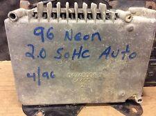 1996 DODGE NEON 2.0L ECU ECM 1996 COMPUTER 5269941