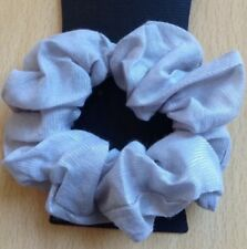 A Silver Grey Scrunchie Ponytail Band / Bobble