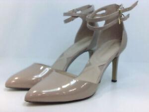 Adrienne Vittadini Womens Nevi Pointed Toe Ankle Strap, mushroom, Size 9.5 8D4t