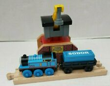 Thomas The Train  Wooden Wood Railway SODOR Shipping Company #2 #1 Track Crane