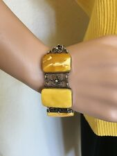 Baltic Egg Yolk Amber Butterscotch Bracelet    80's