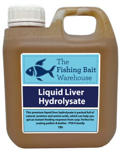 Liquid Liver Hydrolysate 1ltr | Fishing Bait Liquid Glug, Bait Soak, Liquid Food