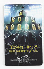 Hotel Card Mandalay Bay VH 1 Rock honors 25.05.2006 with Foo Fighters roomkey