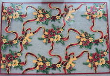 Christmas Garland Design  Pvc Placemats pack of 2