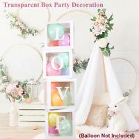 12'' Box Balloon Transparent Storage Wedding Kid Birthday Baby Shower Decor Gift