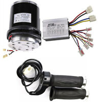 36V 800W Motor Brushed Controller Speed Control +Throttle Grip For Bike Scooter