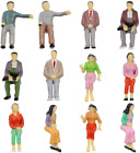 P25S 12pcs All Seated 1:25 Painted Passengers Figures G Scale Person for Model R
