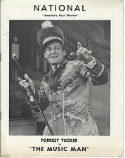 1950s era FOREST TUCKER STARRING IN THE MUSIC MAN PROGRAM - NATIONAL THEATRE