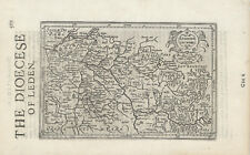 """1635 small Mercator map """"The Diocese of Leden"""""""