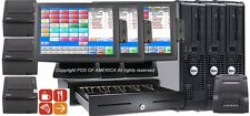 pcAmerica Pos System Restaurant Pro Express 3 Stations i3 4Gb Bar Bakery New