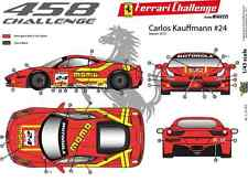 "Ffsmc Productions Decalcomanie 1/43 Ferrari F-458 Challenge 2012 ""momo"""