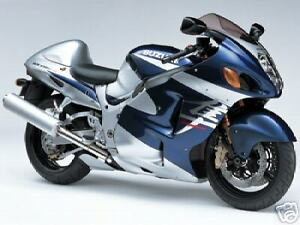 SUZUKI TOUCH UP PAINT KIT 04 HAYABUSA BLUE AND SILVER.