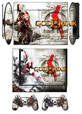 Skin Sticker for PS3 PlayStation 3 Super Slim and 2 controller skins GOW Q210
