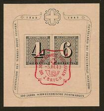 SWITZERLAND : 1943 Cantonal Centenary miniature sheet SG MS430b  fine used
