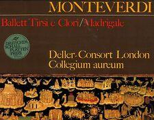 MONTEVERDI BALLETT TIRSI E CLORI MADRIGALE DELLER CONSORT LONDON LP FOC (L5955)