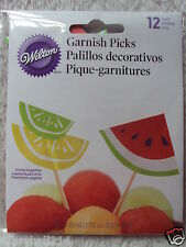 Wilton Garnish Picks Summer Food/Cupcakes Topper New
