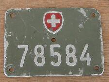 original  KENNZEICHEN - für schweizer MILITÄR Velo - Fahrradkennzeichen ARMEE